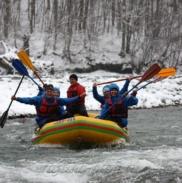 Рафтинг Зимой По Реке Белой 4