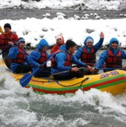 Рафтинг Зимой По Реке Белой 13