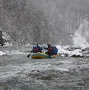 Рафтинг Зимой По Реке Белой 3