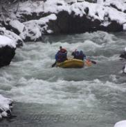 Рафтинг Зимой По Реке Белой 16