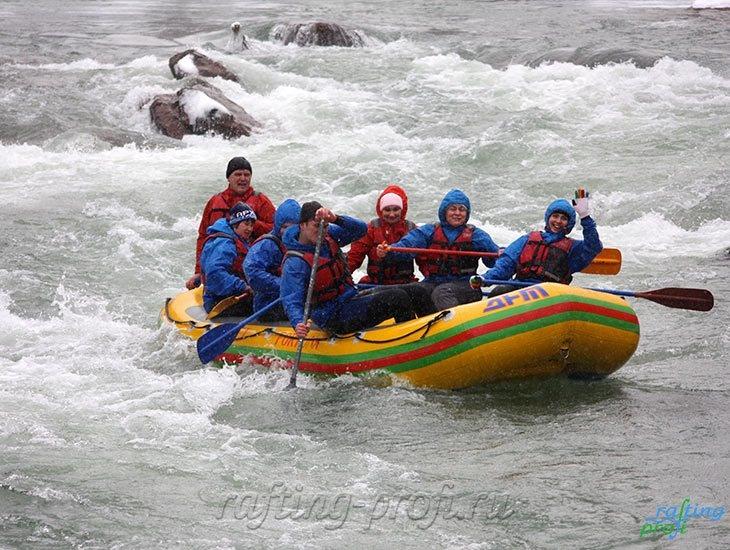 Рафтинг зимой по реке Белой 28