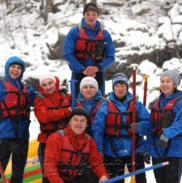 Рафтинг Зимой По Реке Белой 32