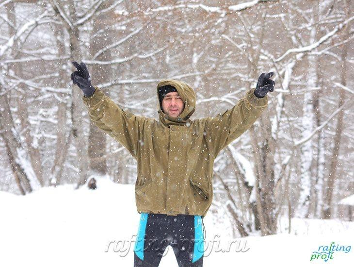 Рафтинг зимой по реке Белой 34